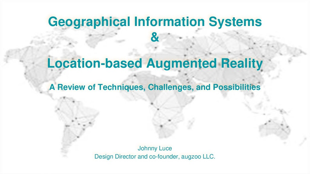 Geographical Information Systems & Location-bas...