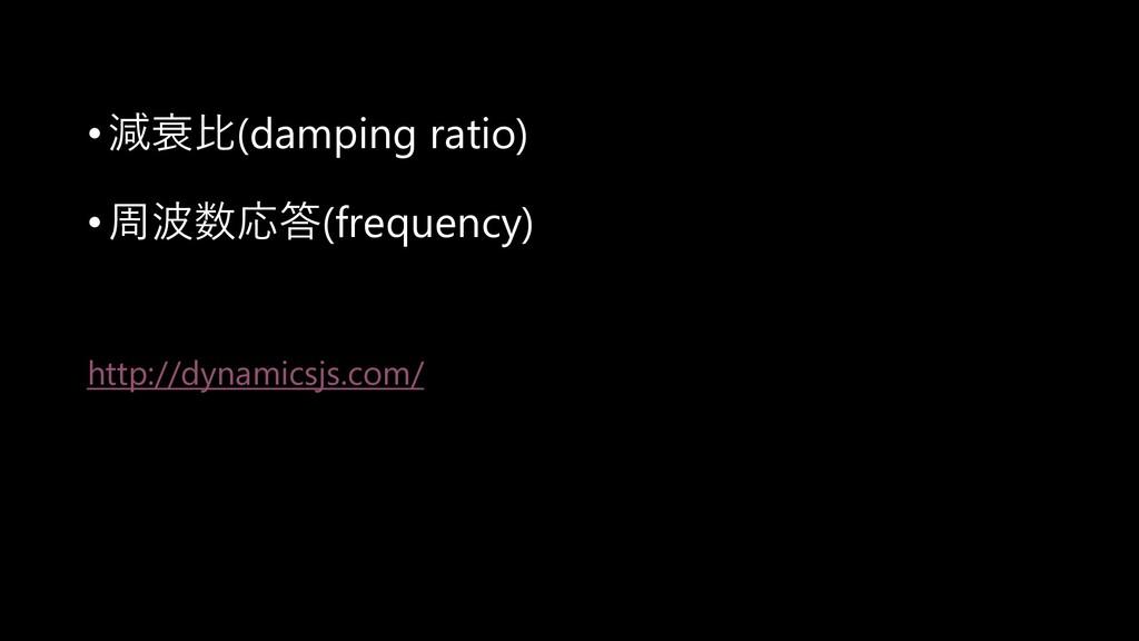 •減衰比(damping ratio) •周波数応答(frequency) http://dy...