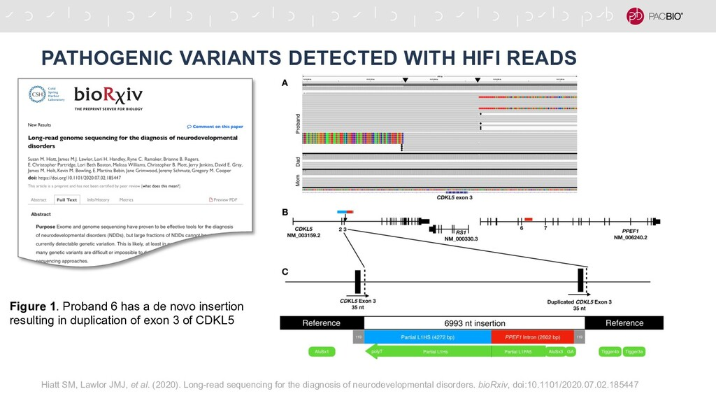 PATHOGENIC VARIANTS DETECTED WITH HIFI READS Hi...