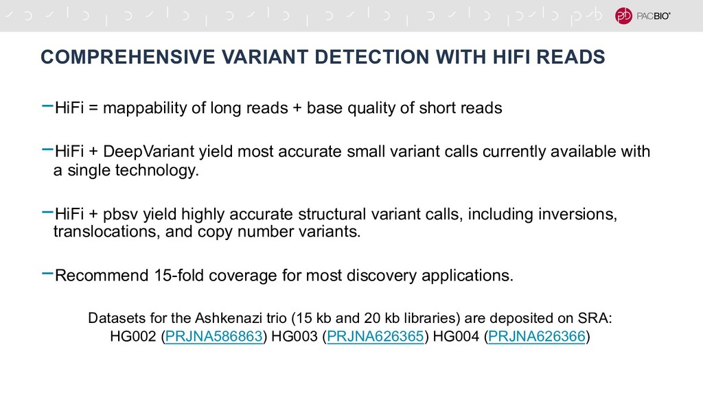 COMPREHENSIVE VARIANT DETECTION WITH HIFI READS...