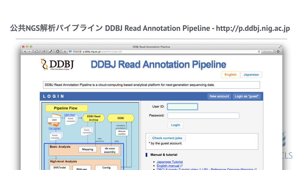 ެڞNGSղੳύΠϓϥΠϯ DDBJ Read Annotation Pipeline - h...