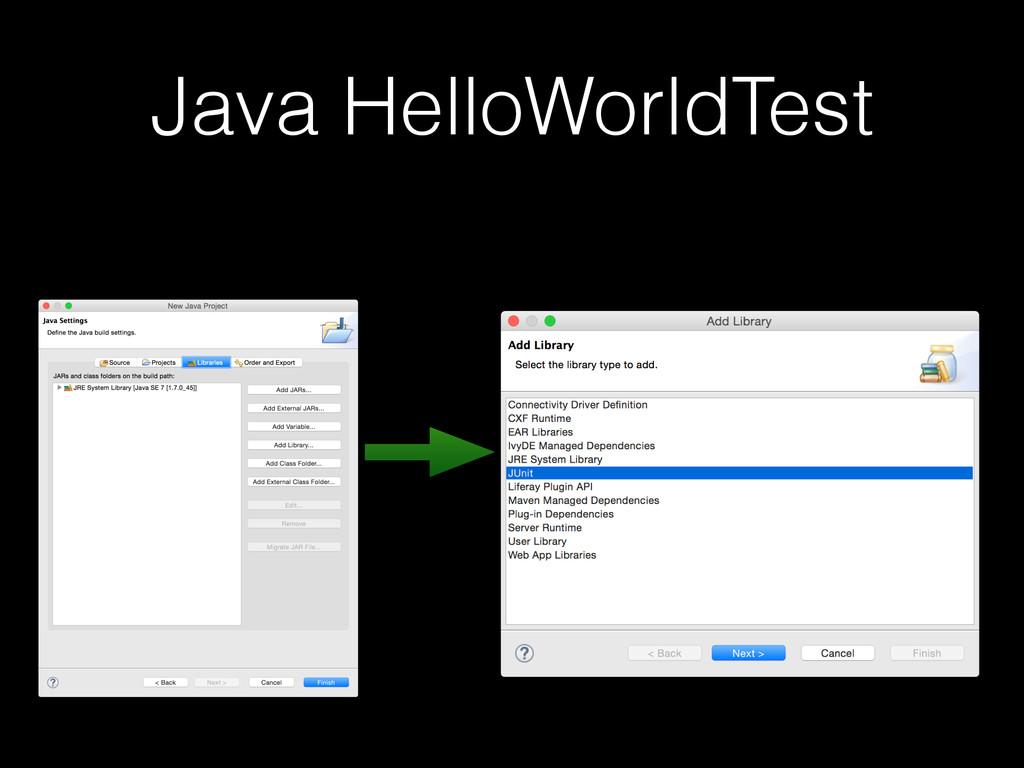 Java HelloWorldTest