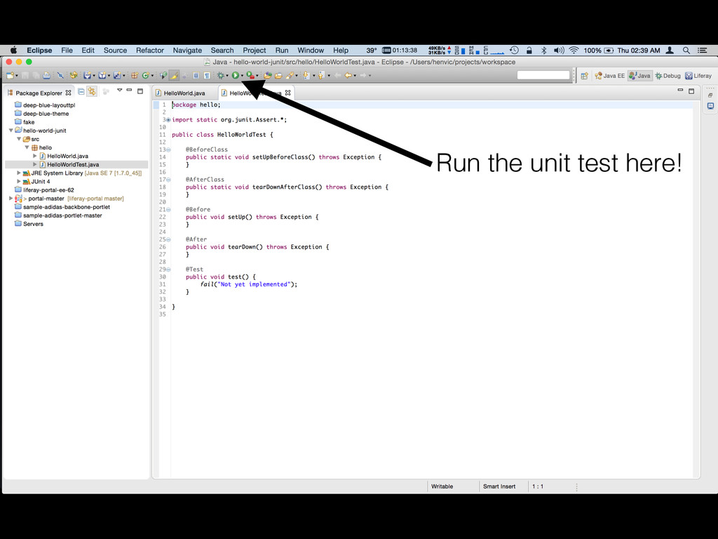 Run the unit test here!