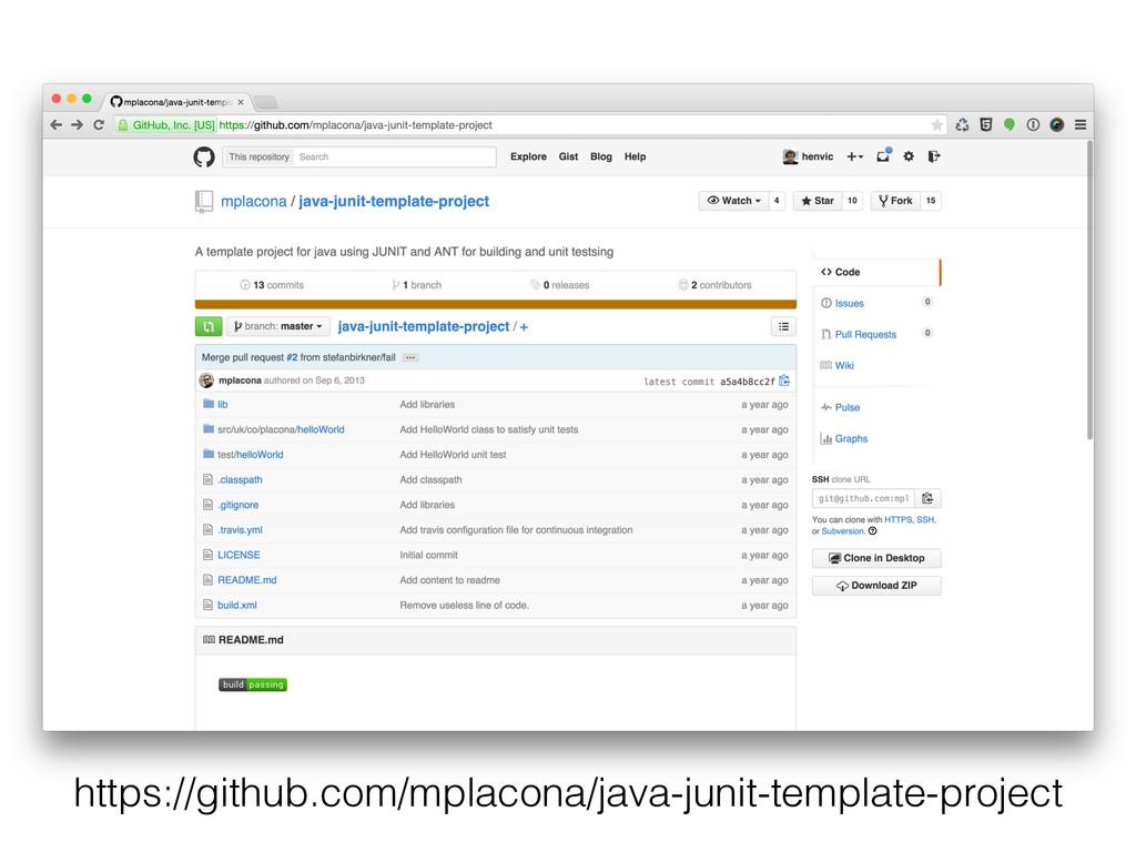 https://github.com/mplacona/java-junit-template...