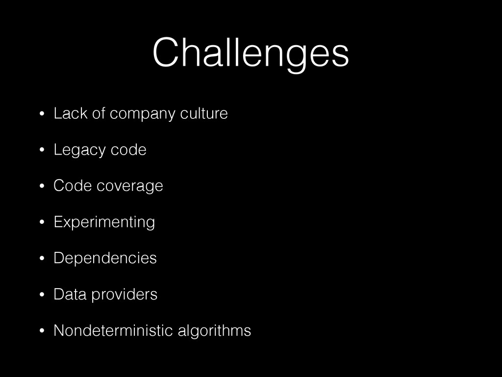 Challenges • Lack of company culture • Legacy c...