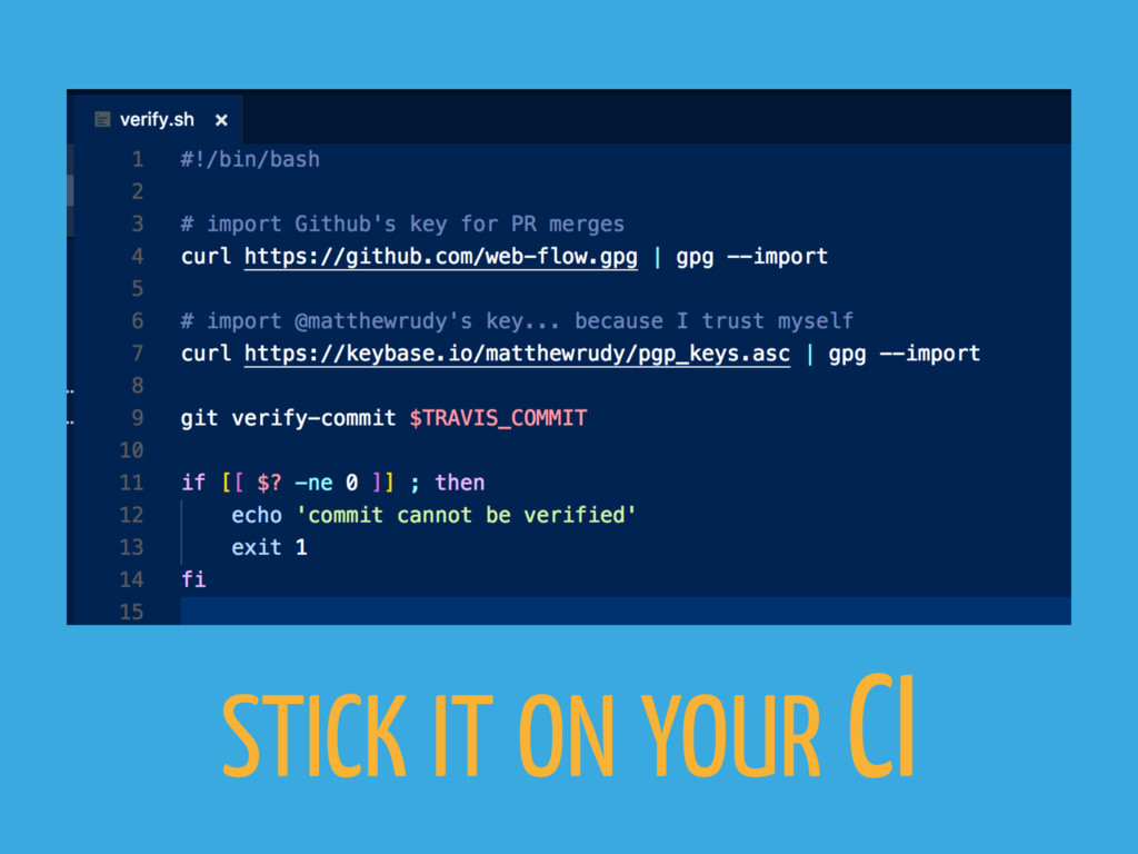 STICK IT ON YOUR CI