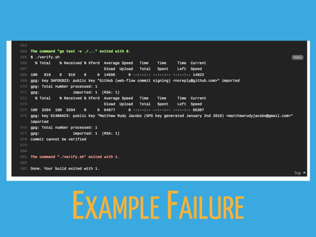 EXAMPLE FAILURE