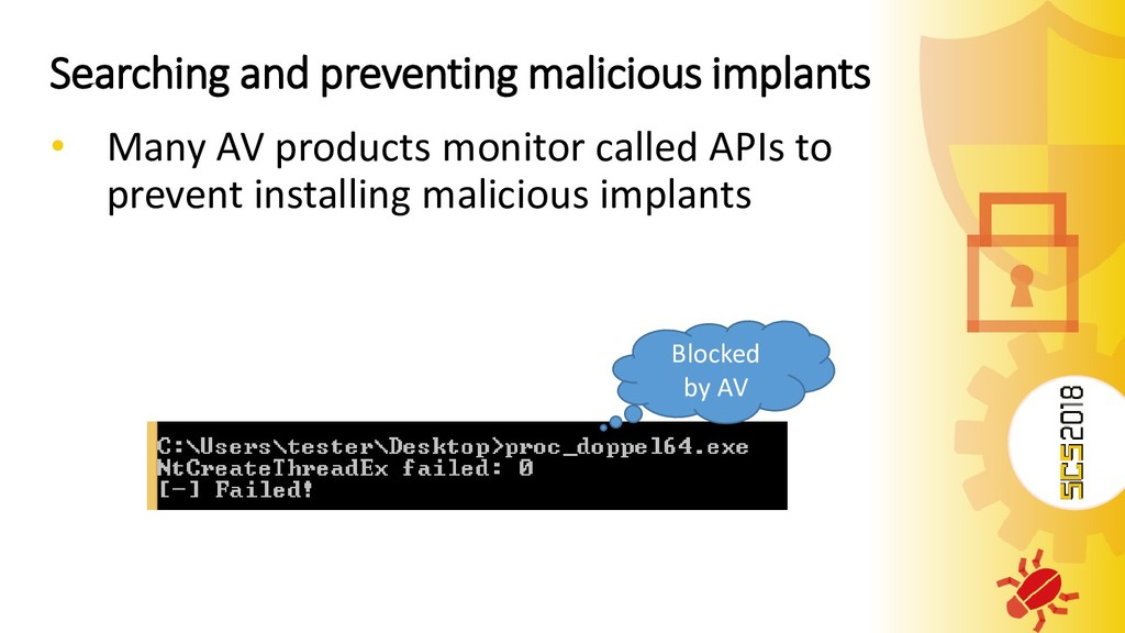 Searching and preventing malicious implants • M...