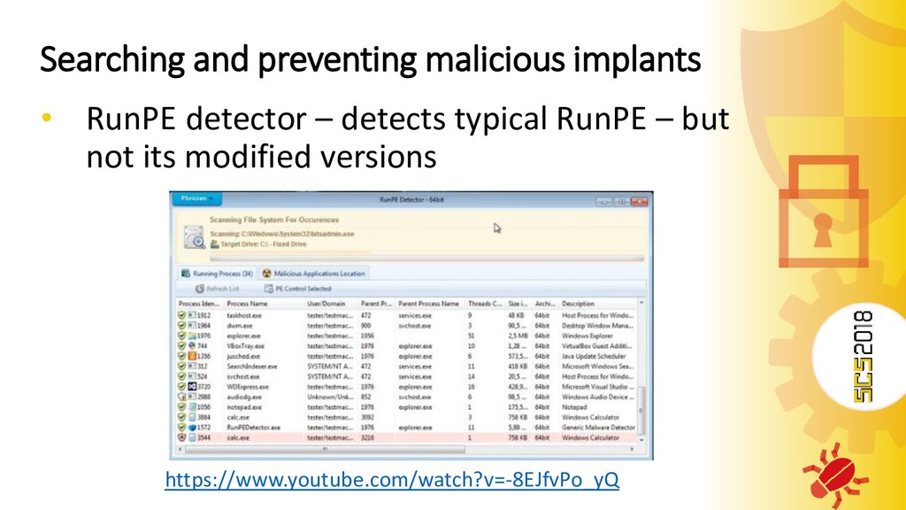 Searching and preventing malicious implants • R...