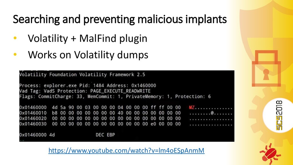 Searching and preventing malicious implants • V...