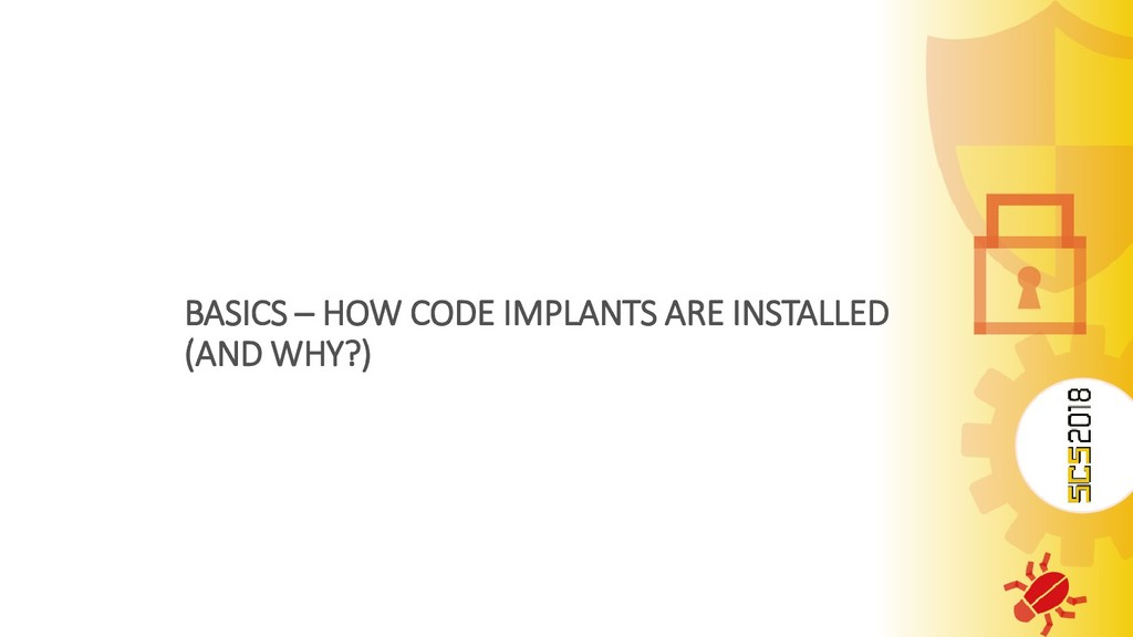 BASICS – HOW CODE IMPLANTS ARE INSTALLED (AND W...