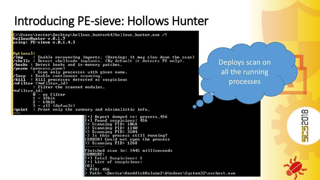 Introducing PE-sieve: Hollows Hunter Deploys sc...