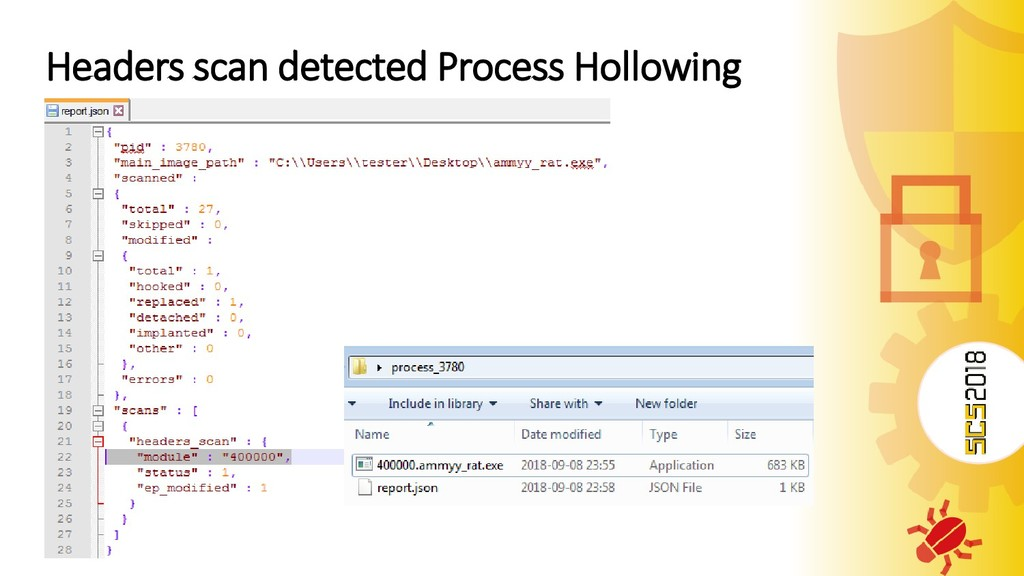 Headers scan detected Process Hollowing