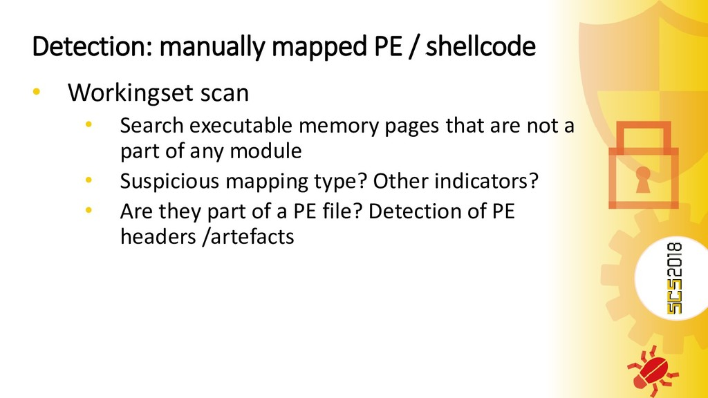Detection: manually mapped PE / shellcode • Wor...