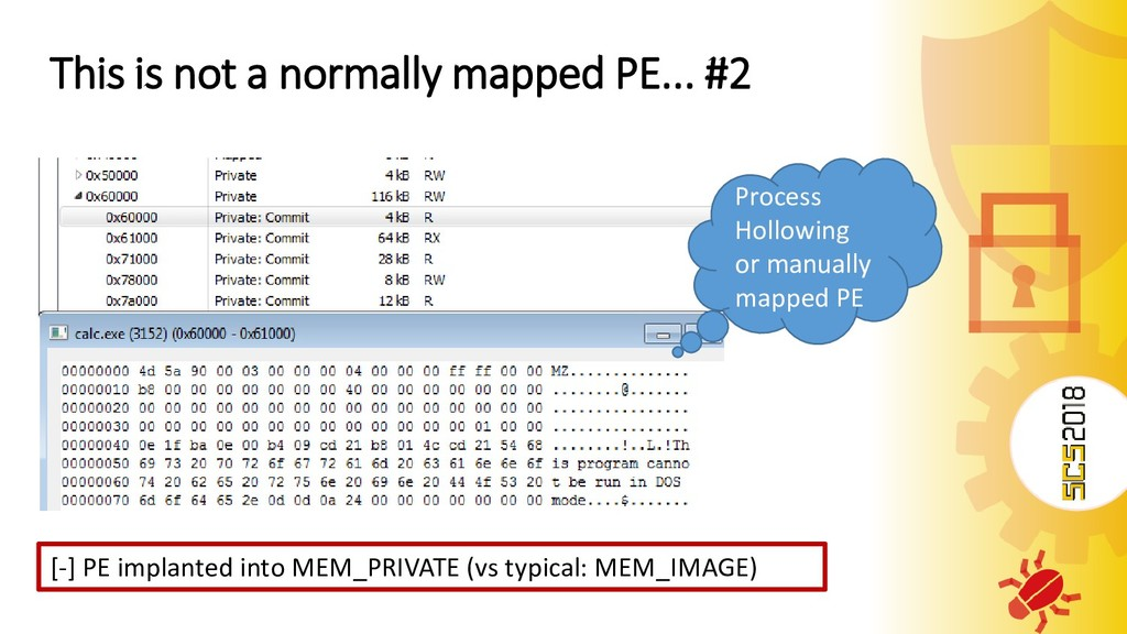 This is not a normally mapped PE... #2 [-] PE i...