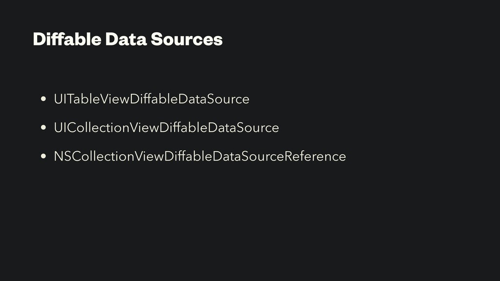 Diffable Data Sources • UITableViewDiffableDataS...