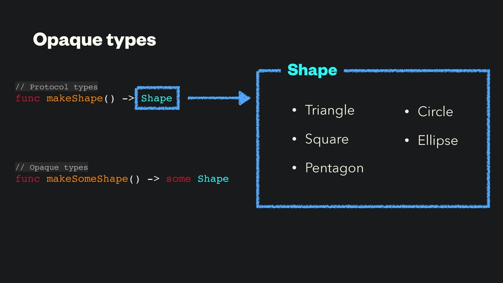 • Triangle • Square • Pentagon // Protocol type...