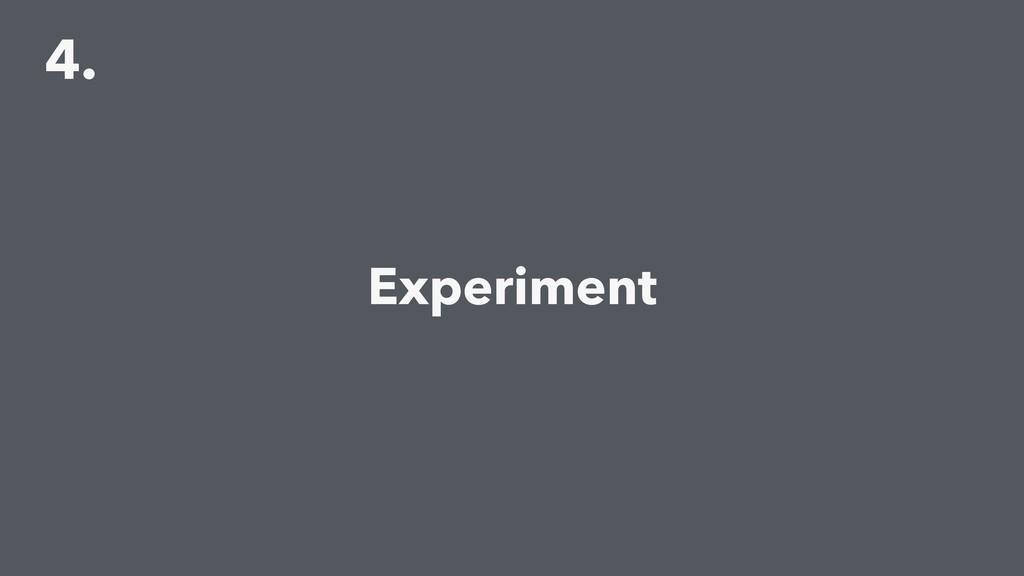 4. Experiment