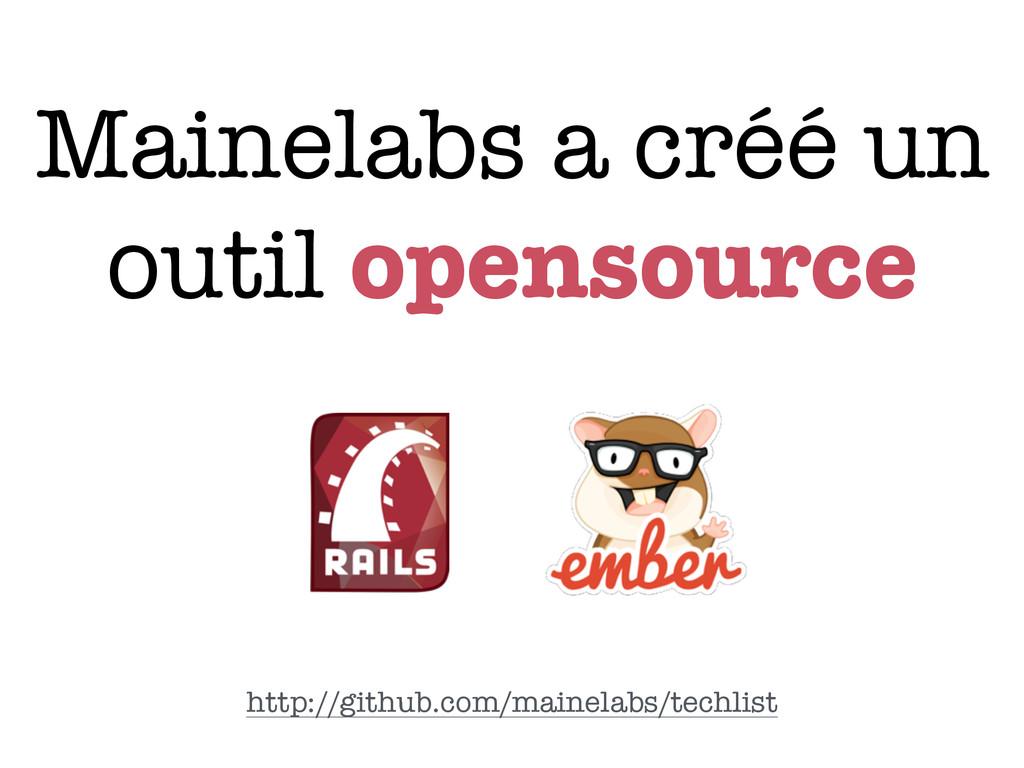 Mainelabs a créé un outil opensource http://git...