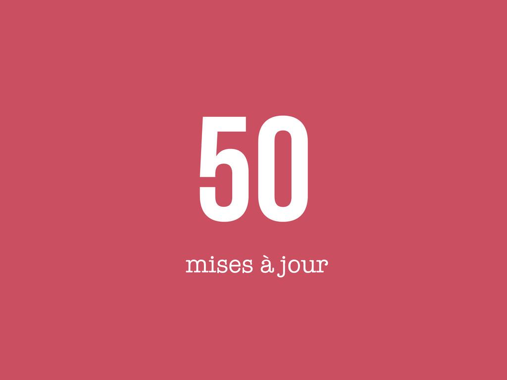 50 mises à jour