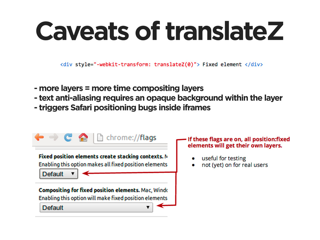 Caveats of translateZ - more layers = more time...