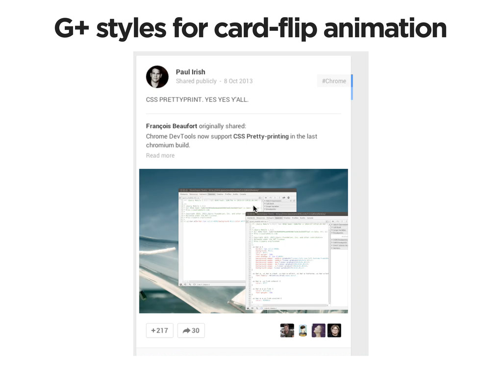 G+ styles for card-flip animation