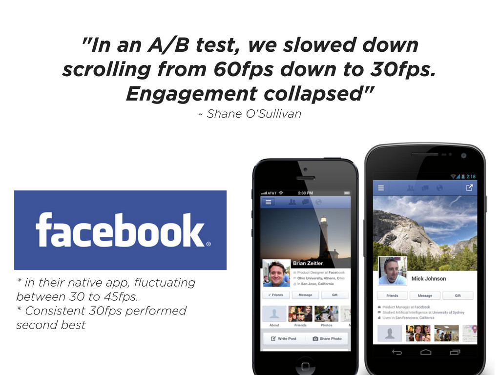 """In an A/B test, we slowed down scrolling from ..."
