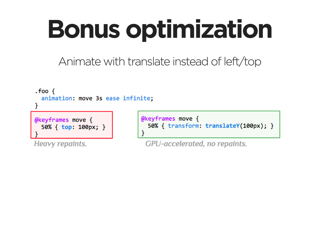 Bonus optimization Animate with translate inste...