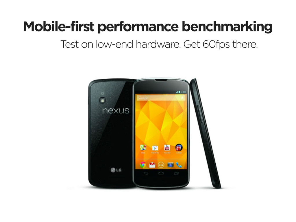 Mobile-first performance benchmarking Test on l...