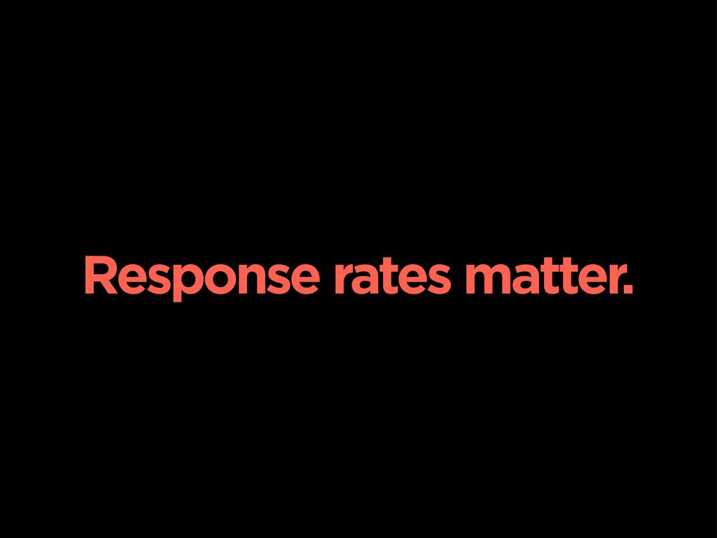 Response rates matter.