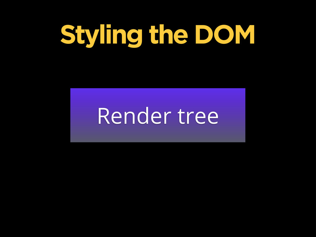 Render tree Styling the DOM