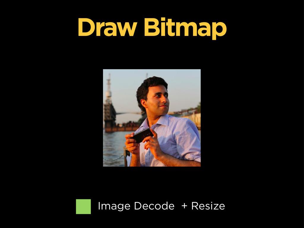 Image Decode + Resize Draw Bitmap