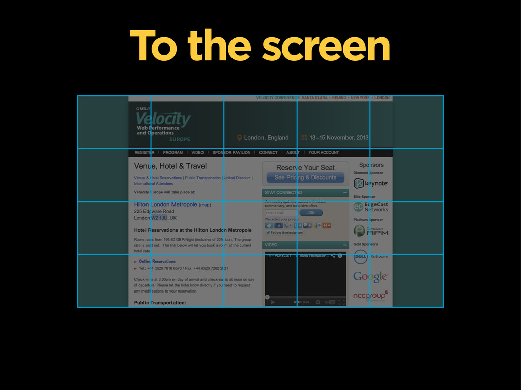 To the screen