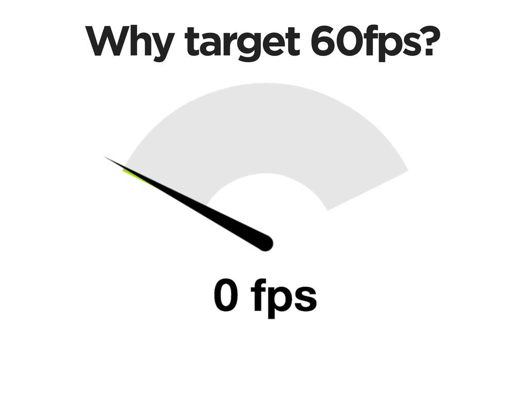 Why target 60fps?