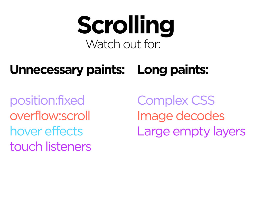Scrolling Correct as of November, 2013. Watch o...