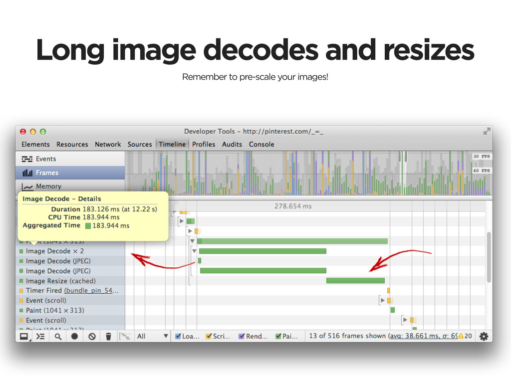 Long image decodes and resizes Remember to pre-...