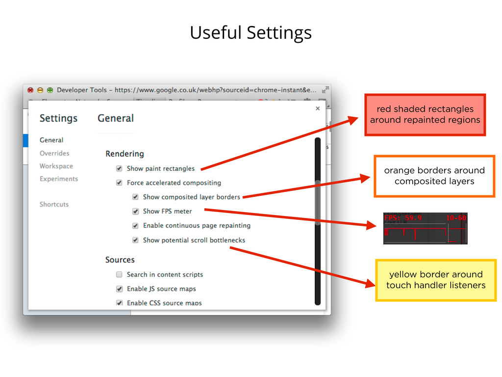 Useful Settings red shaded rectangles around re...