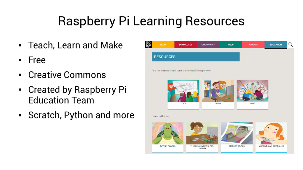 Raspberry Pi Learning Resources ● Teach, Learn ...