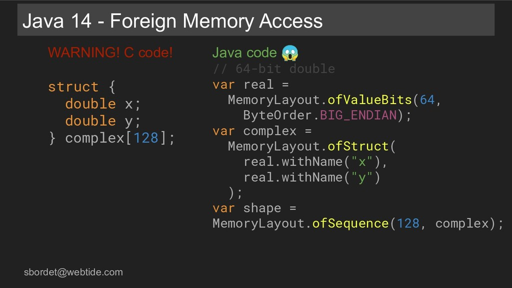 sbordet@webtide.com Java code  // 64-bit double...
