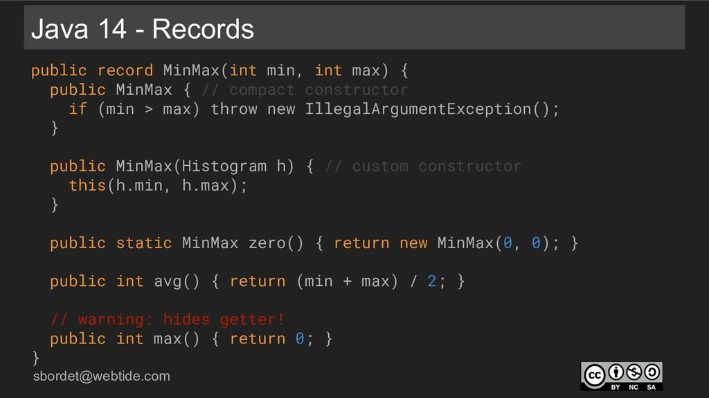 sbordet@webtide.com Java 14 - Records public re...