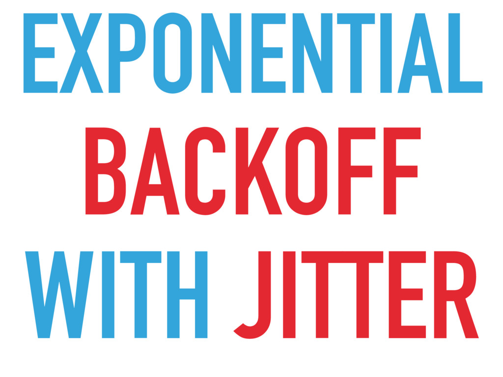 BACKOFF EXPONENTIAL WITH JITTER