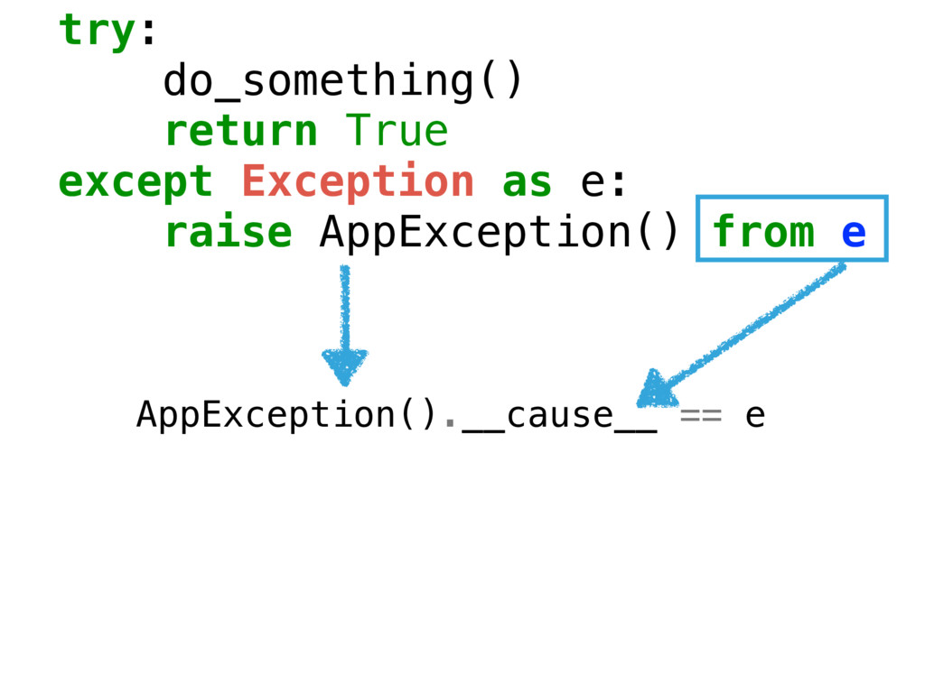try: do_something() return True except Exceptio...