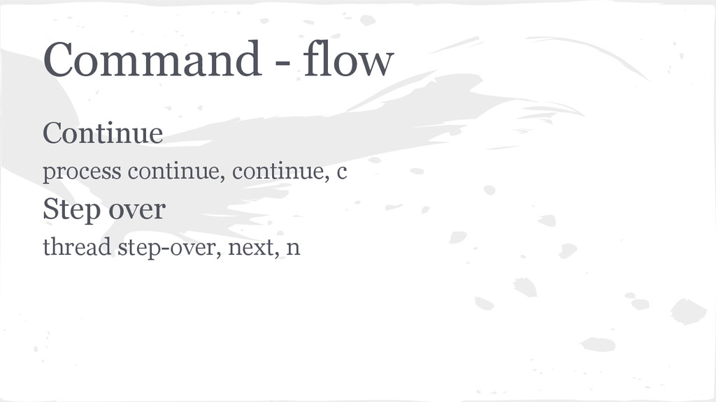 Command - flow Continue process continue, conti...