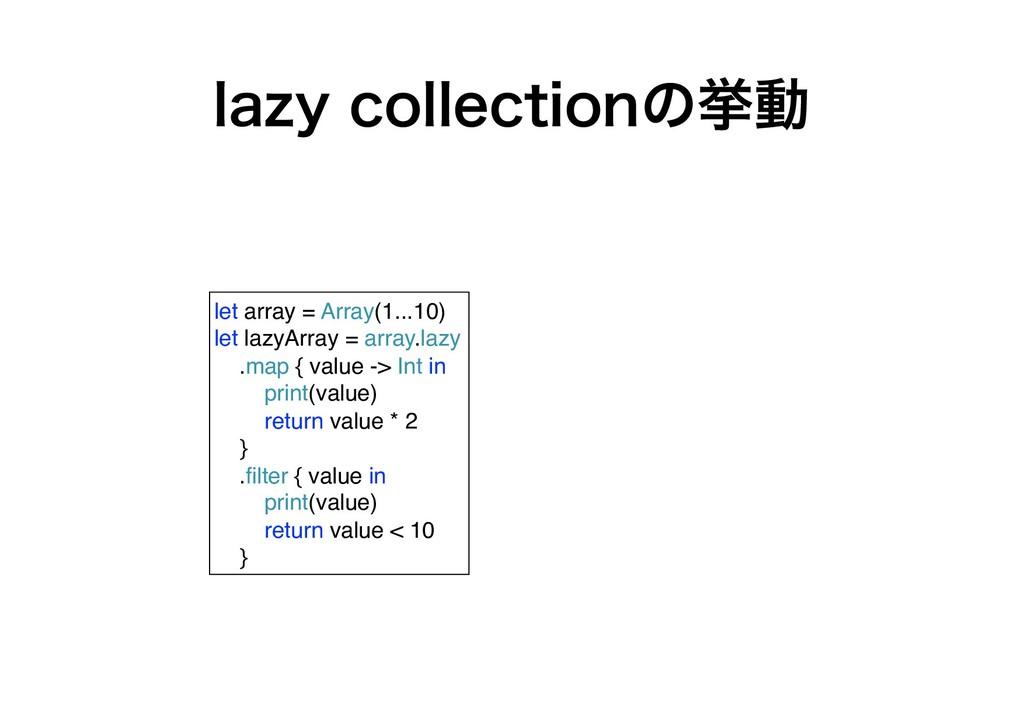 MB[ZDPMMFDUJPOͷڍಈ let array = Array(1...10) le...