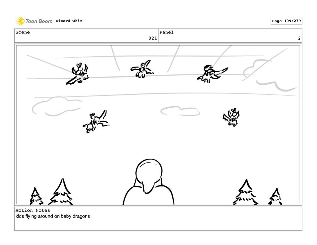 Scene 021 Panel 2 Action Notes kids flying aroun...