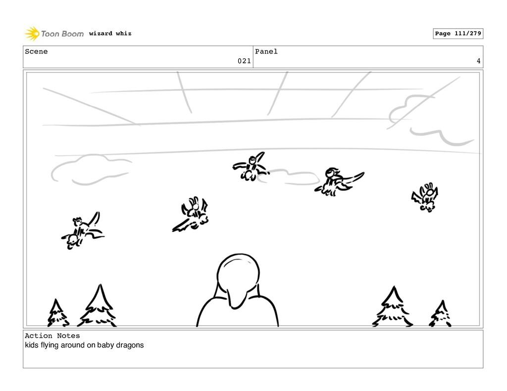 Scene 021 Panel 4 Action Notes kids flying aroun...