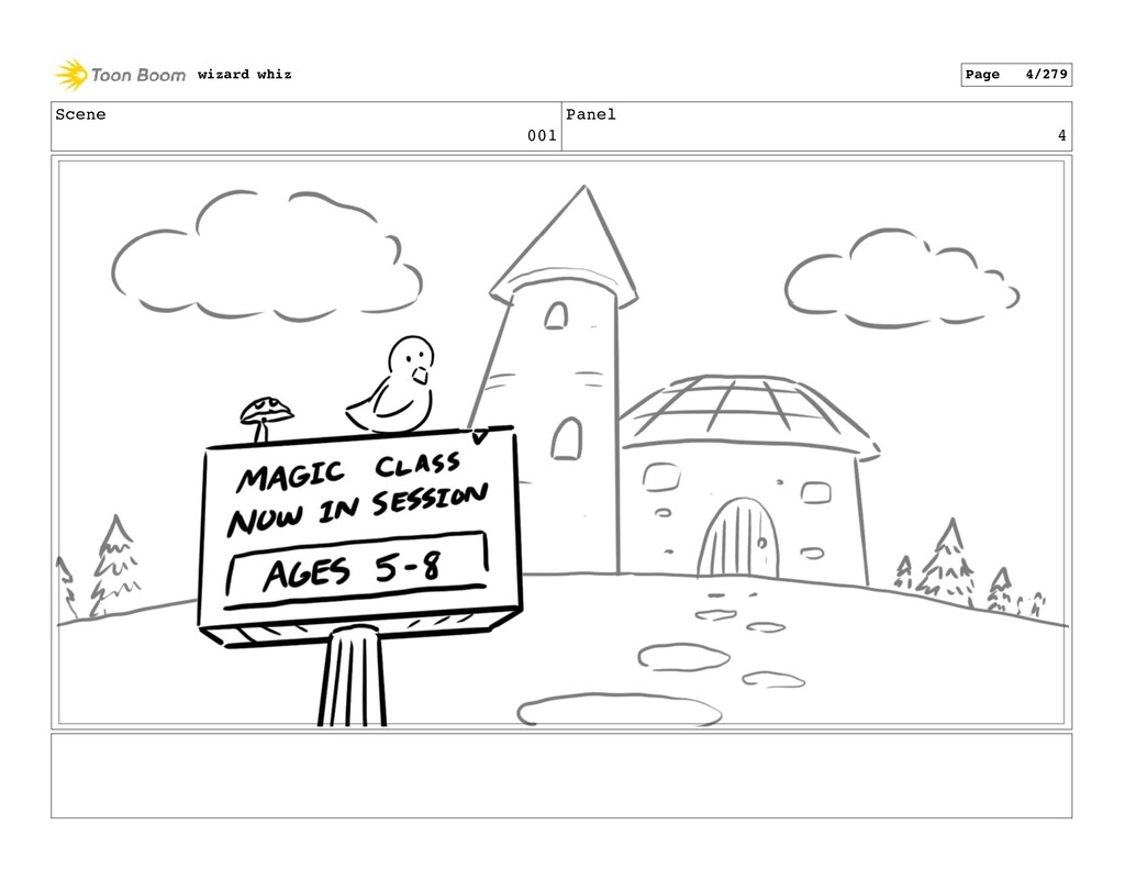 Scene 001 Panel 4 wizard whiz Page 4/279