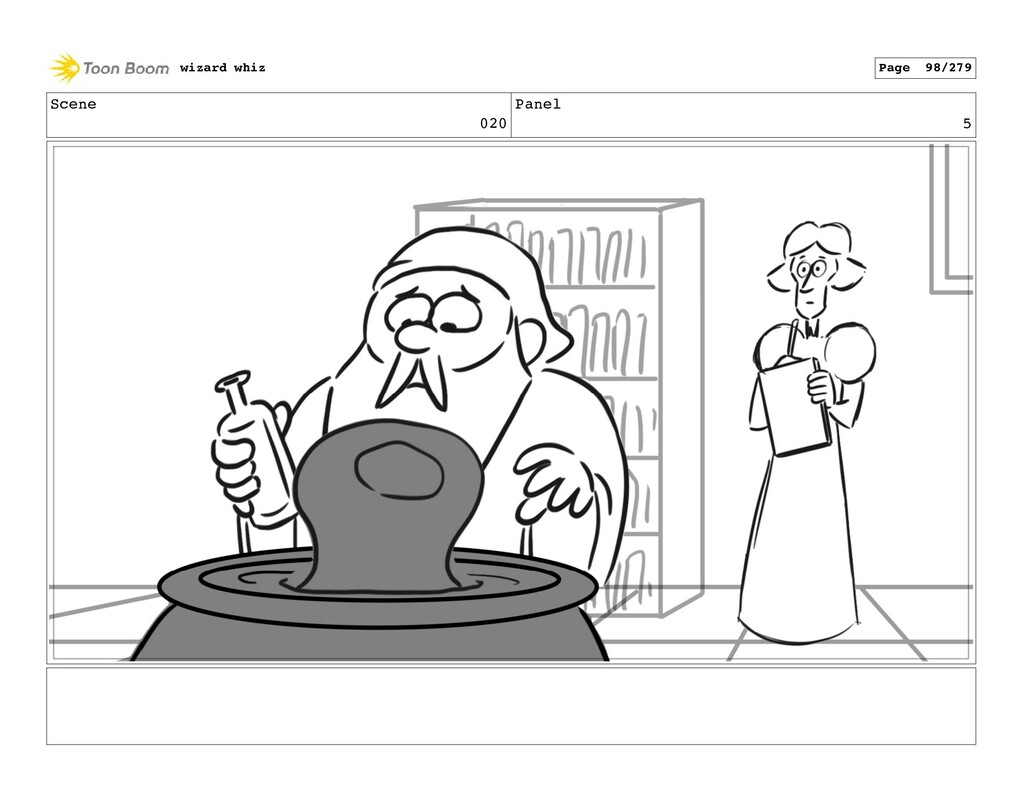 Scene 020 Panel 5 wizard whiz Page 98/279