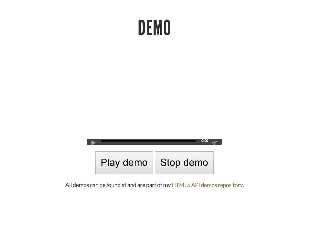 DEMO 0:00 Play demo Stop demo All demos can be ...