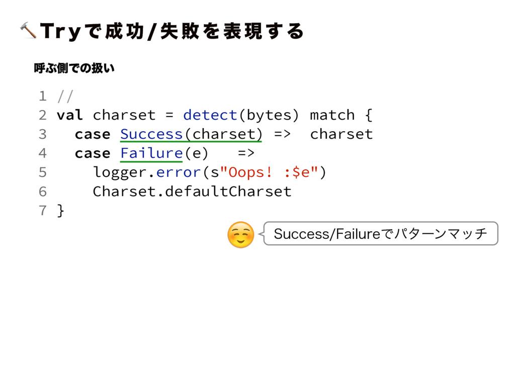 5S Z Ͱ  ޭ  ࣦ ഊ Λ ද ݱ ͢ Δ 1 // 2 val charset ...